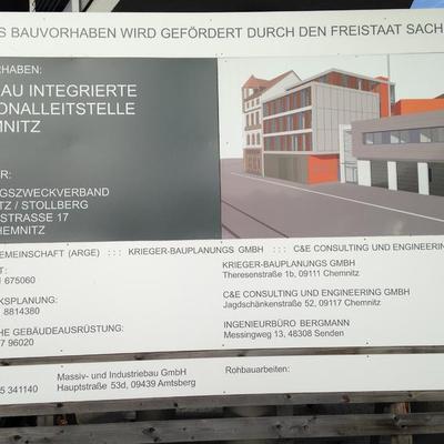 Bautafel Chemnitz
